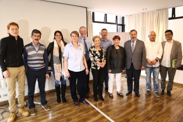 The delegation met with representatives of Colombian human rights organisations - Patriotic March, Interchurch Peace and Justice Commission, and the Colombian Commission of Jurists.