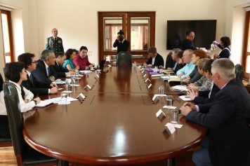 The delegation was received by the Vice President of Colombia, Oscar Naranjo who emphasised both the difficulties encountered in the implementation of the peace deal and the commitment of the Colombian government to ensure its successful completion.