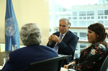 Delegation meets with the Head of the UN Verification Mission in Colombia, Jean Arnault.