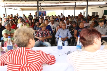 The delegation visited the FARC Reincorporation Zone in Llano Grande, North Antioquia.