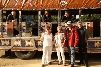 Delegates travel to the rural village of el Palo in North Cauca.