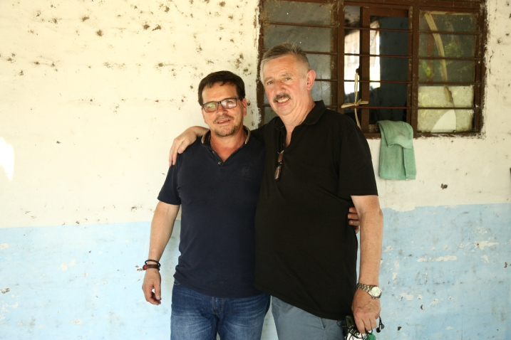 Peter Nolan (Forsa) together with Huber Ballesteros, executive member of the CUT who was freed from prison in 2017 after more than three years behind bars.