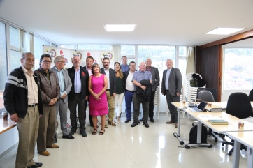The delegation met with the Colombian trade union organisation the CUT