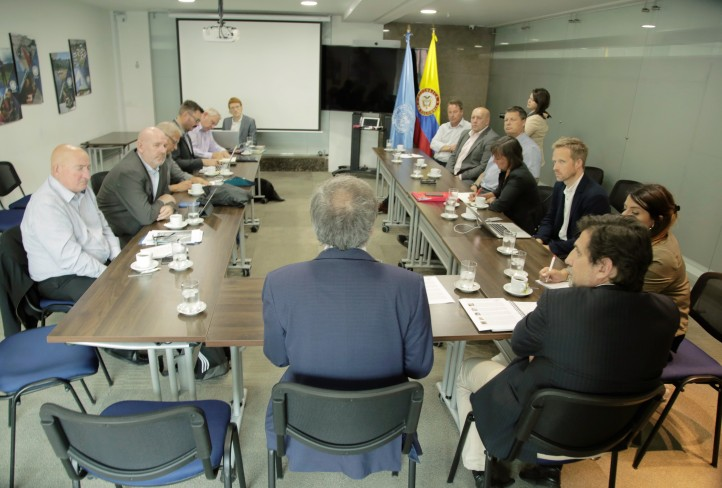 The delegation meeting with the Head of the UN Verification Mission, Jean Arnault, and the Director of Verification, Raul Rosende