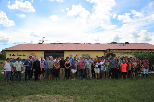 The delegation travelled to a FARC reincorporation zone in the Department of Arauca.