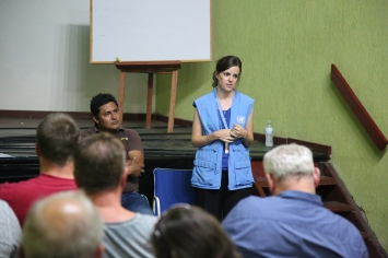 The delegation heard from a representative of the United Nations during the meeting with local authorities in Catatumbo