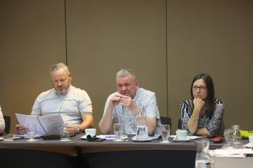 (L-R) Dave Todd, POA; Mick pimblett, POA; Philippa Marsden, Unite