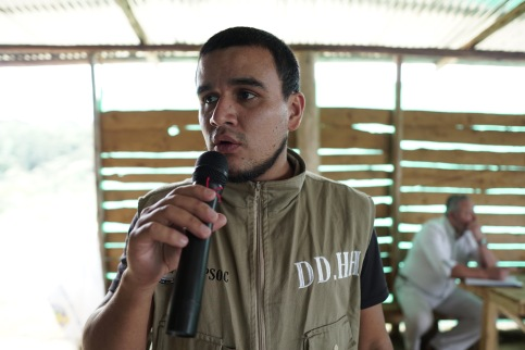 Human rights activist in Cauca