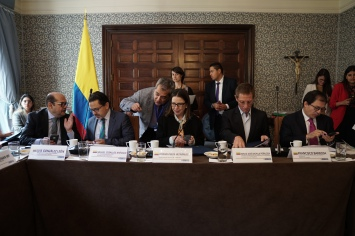 Meeting with representatives of the Colombian government